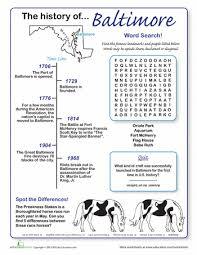 history of baltimore worksheets history and fun worksheets