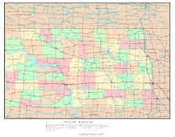 Map Of Minnesota Cities Large Detailed Administrative Map Of North Dakota State With Roads