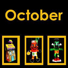 let the begin in october pumpkins apples bears harvest