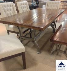 Plank Dining Room Table Industrial Dining Table With Cast Iron Base How Awesome Is This