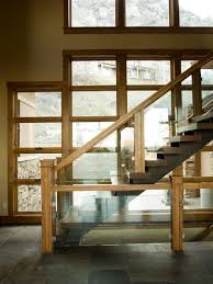 Glass Banisters For Stairs Wood And Glass Railings Houzz