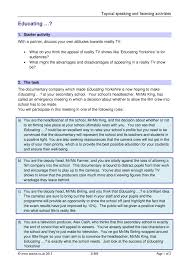 ks3 speaking and listening tasks teachit english