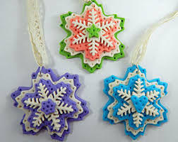 shabby chic distressed vintage style polymer clay snowflake