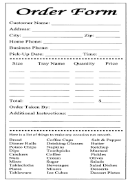 free printable order form templates free purchase order template