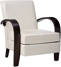 Accent Chair With Arms Amazon Com Roundhill Furniture Wonda Bonded Leather Accent Chair