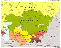 Asia On Map by Territorial Expansion Focused On Central Asia Russians Moved
