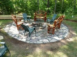 Flagstone Firepit Chilton Flagstone Firepit Rick Gruel Landscaping