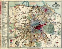 Map Of Europe 1919 by Chronological Map Of Edinburgh A Map From 1919