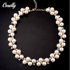 short pearl necklace images Online cheap fashion faux pearl short collar necklace elegant jpg