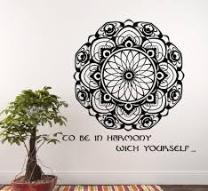 Namaste Home Decor by 2016time Limited Pinturas Murais Big Mandala Wall Vinyl Decal