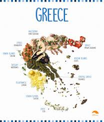 Greece On A Map by Your Guide To Greek Food