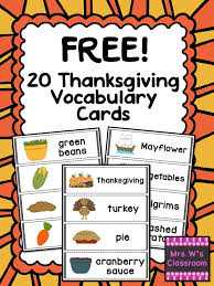 free 20 thanksgiving vocabulary words thanksgiving