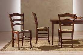 sedie per cucina in legno sedia rustica in legno seduta in paglia per cucina idfdesign