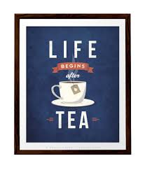 vintage kitchen decor life begins after tea print tea poster kitchen wall art retro