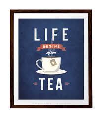 vintage kitchen decor life begins after tea print tea poster kitchen wall art retro