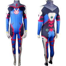 halloween d kids girls overwatch d va zentai jumpsuit bodysuit halloween comic
