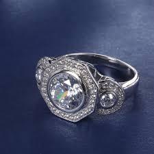 best stone rings images Best quality star harvest round brilliant 3 stone bezel set fancy jpg
