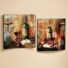 vineyard wine tasting wall art set multi jewel set of two for