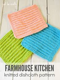 farmhouse kitchen knitted dishcloths dishcloth knitted