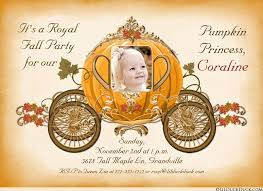 cinderella carriage pumpkin princess birthday invitation cinderella coach fall