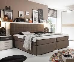 schlafzimmer grau braun boxspringbett mave 180x200 cm grau braun schlafzimmer