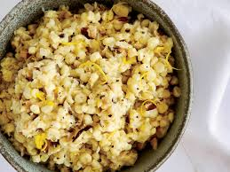 creamless creamed corn with mushrooms and lemon recipe kevin