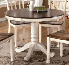 antique white round dining table