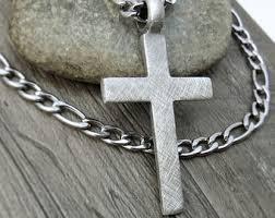 men s religious jewelry men cross necklace etsy