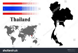 World Map Thailand by Thailand Info Graphic Flag Location World Stock Vector 236599717