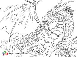 trace able coloring page for fire breathing dragon https www