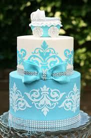 damask baby shower cake u2014 the honeylove blog