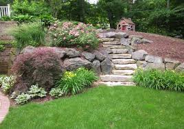 Patio Retaining Wall Pictures Ada Walkway Retaining Walls Steps Plantings