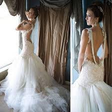 robe sirene mariage forme sirène trompette traîne mi longue dentelle robe de mariée