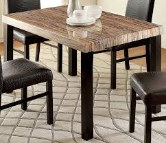 Dining Tables by Amazon Com Furniture Of America Bahia Contemporary Faux Marble