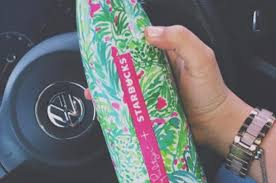 starbucks lilly pulitzer swell girls are going nuts over lilly pulitzer s new collab with starbucks
