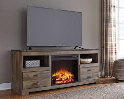 trinell fireplace television stand the furniture mart