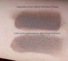taupe the color health and beauty maybelline color tattoo permanent taupe