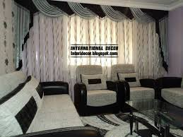 Black Living Room Curtains Ideas Black And White Living Room Curtains 10 Image