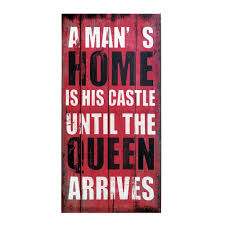 queen of the house canvas wall art rustic wall art rustic walls
