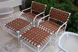 Patio Chair Strapping Vinyl Strapping Replacements On Tropitone Cantina Patio Furniture