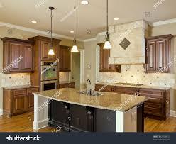 kitchen with center island luxury home interior kitchen center island stock photo 22508917