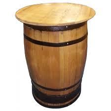 Oak Bar Table Top Oak Whisky Barrel Bar Table