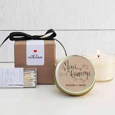 wedding favor candles wedding favor candles merci beaucoup label design thank you