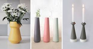 Vase Holders Minimalist Vases And Candle Holders Are A Simple Addition For