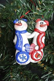 personalized custom house divided snowman ornament you pick the