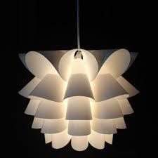 Hanging Pendant Lights Bedroom Modern Lotus Plastic Pendant L Dining Living Room Suspension