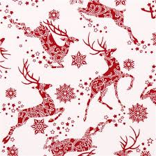 white reindeer snow fabric winter essentials iii