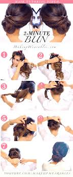 hair buns for hair 2 minute bun hairstyle totally easy hair tutorial