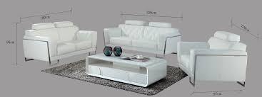 divani casa huron modern white leather sofa set