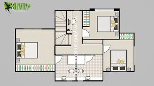 House Floor Planner by 2d Floor Plan With Furuniture Landscaping Desing By Yantram Studio